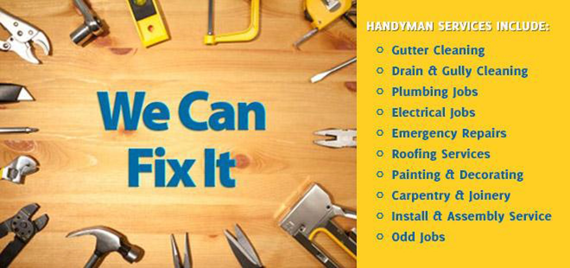 "handyman services ~ ""one call for all your Home Care Needs"""